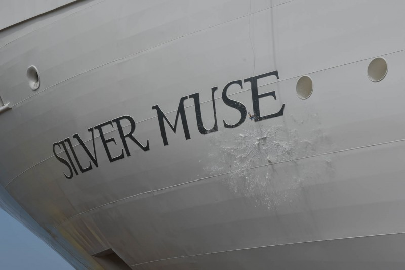 Silver muse vatata da Fincantieri a Sestri Ponente