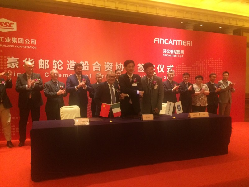 Fincantieri joint venture in China